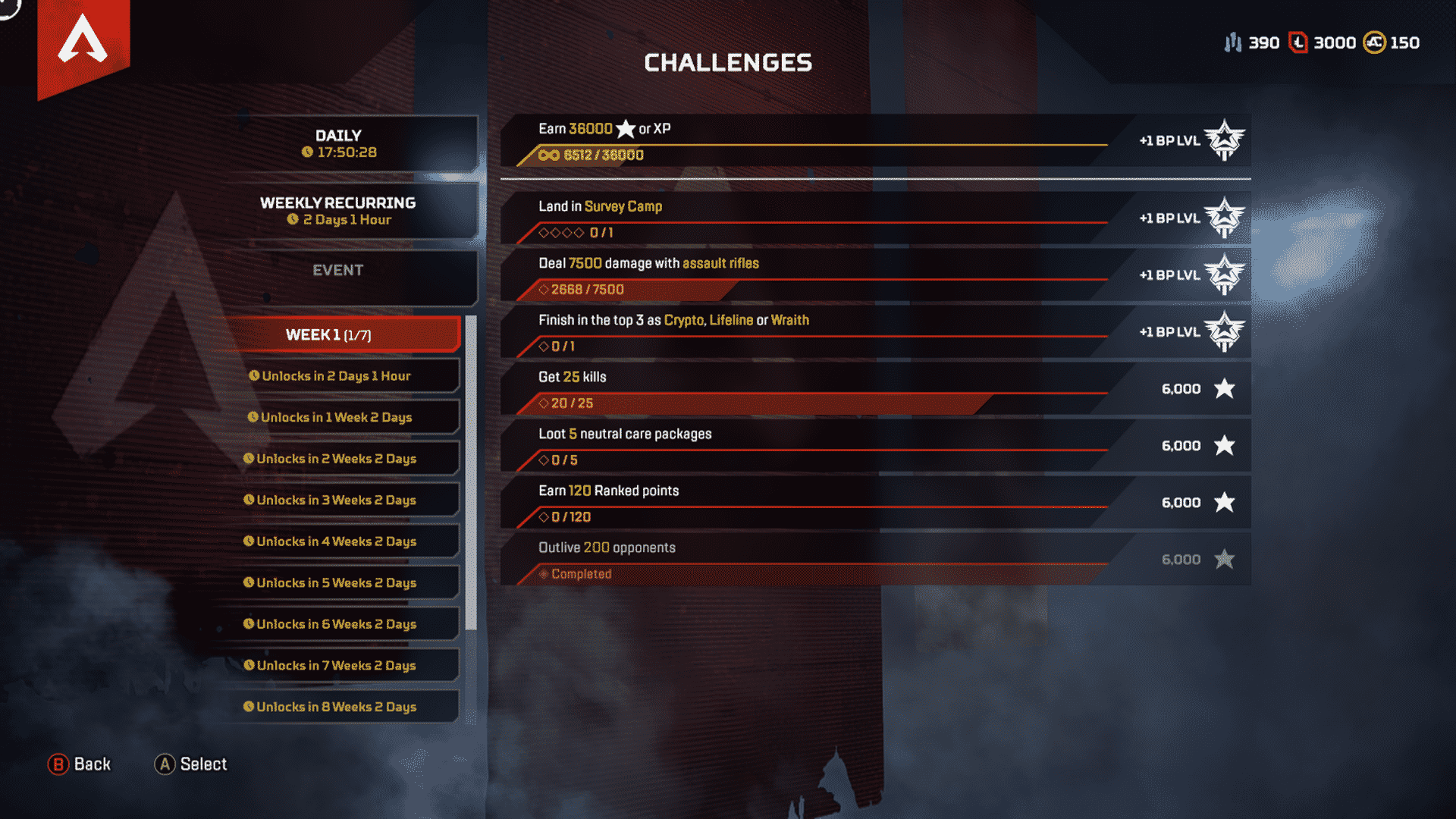 Week 1 Season 4 Challenges Assimilation