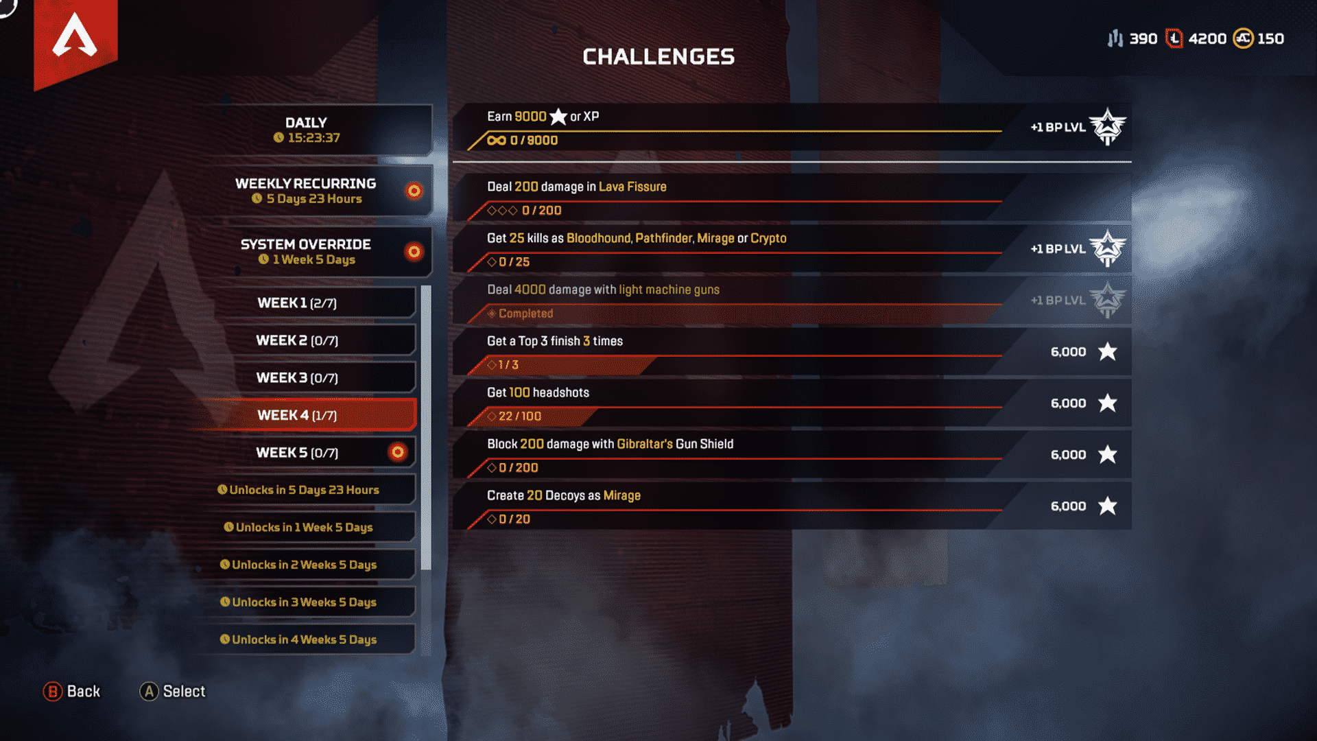Week 4 Season 4 Challenges Assimilation Feb 25