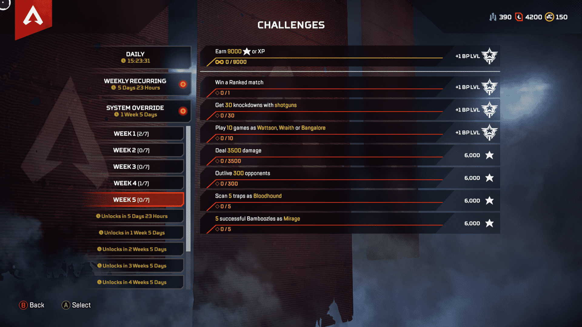 Week 4 Season 4 Challenges Assimilation March 3