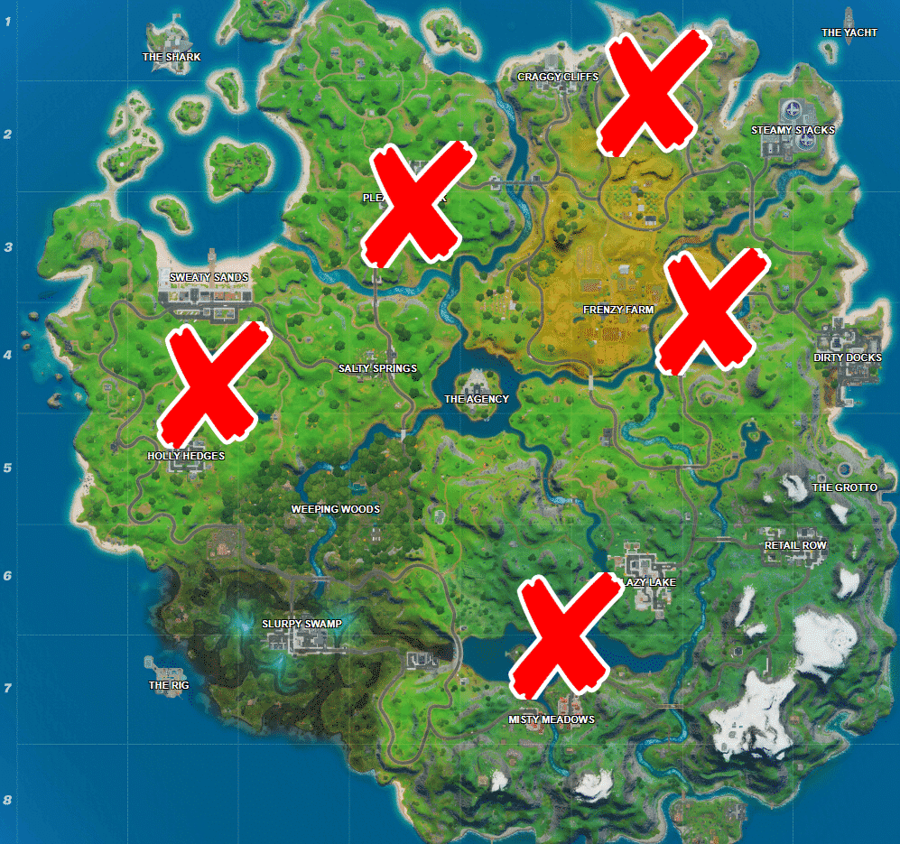 where Shadow Safe Houses in Fortnite