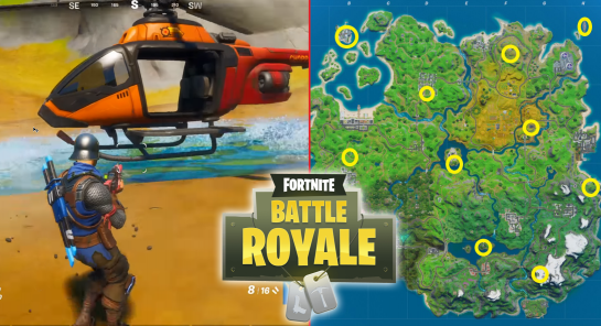 All Fortnite Choppa Locations Around the FN Map