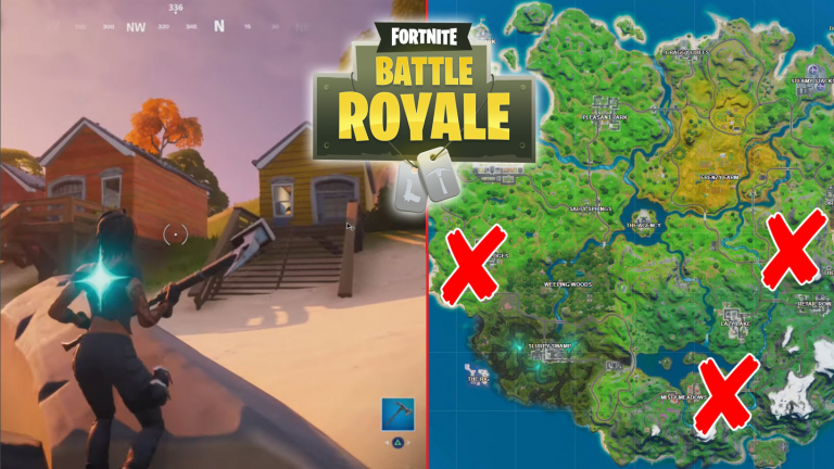 All Fortnite Lake Canoe, Camp Cod, and Rainbow Rentals Locations