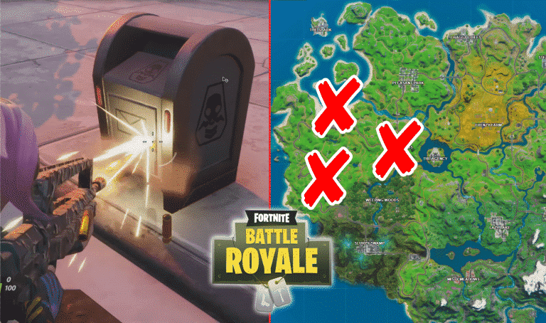 All Fortnite Shadow Dropboxes Locations Destroy Dropboxes
