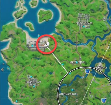 GHOST Delivery location Fortnite