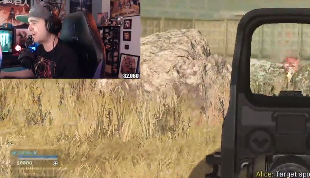 Summit1g playing Call of Duty Warzone