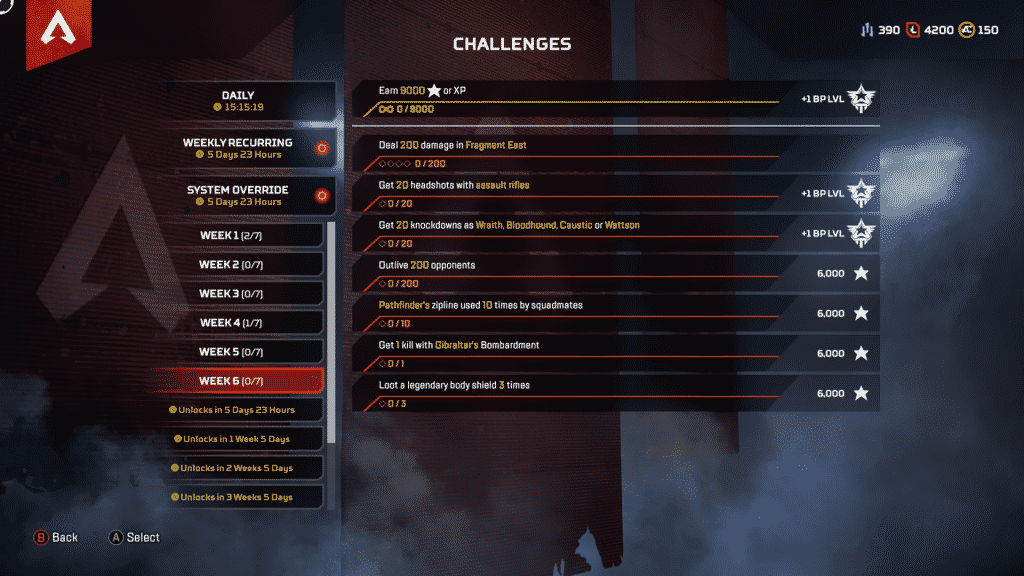 Week 6 Season 4 Challenges Assimilation March 10