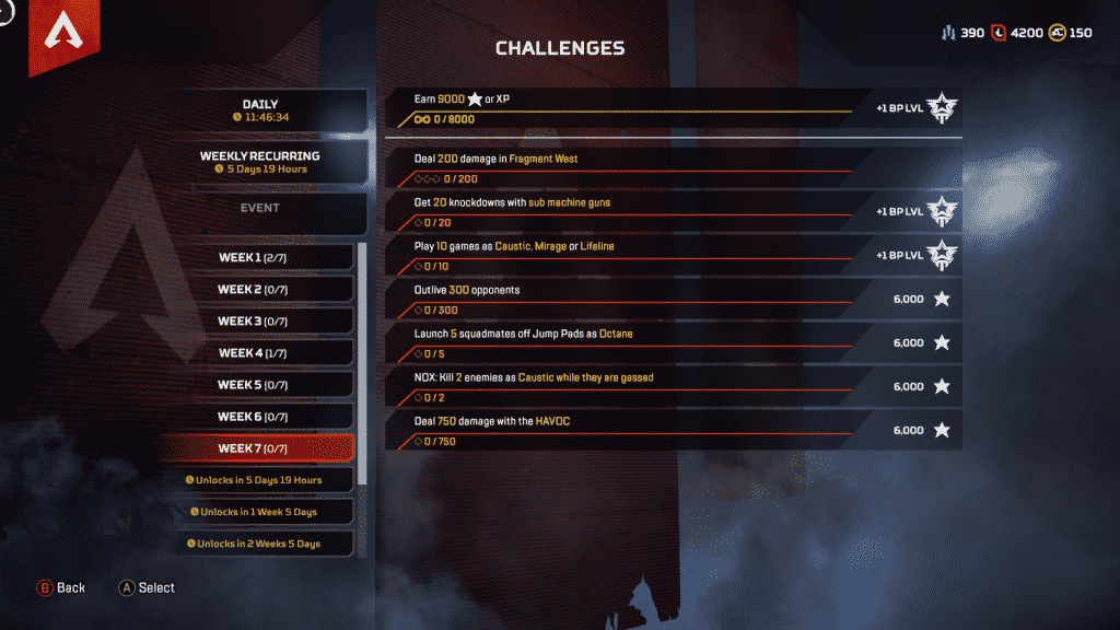 Week 7 Season 4 Challenges Assimilation March 17