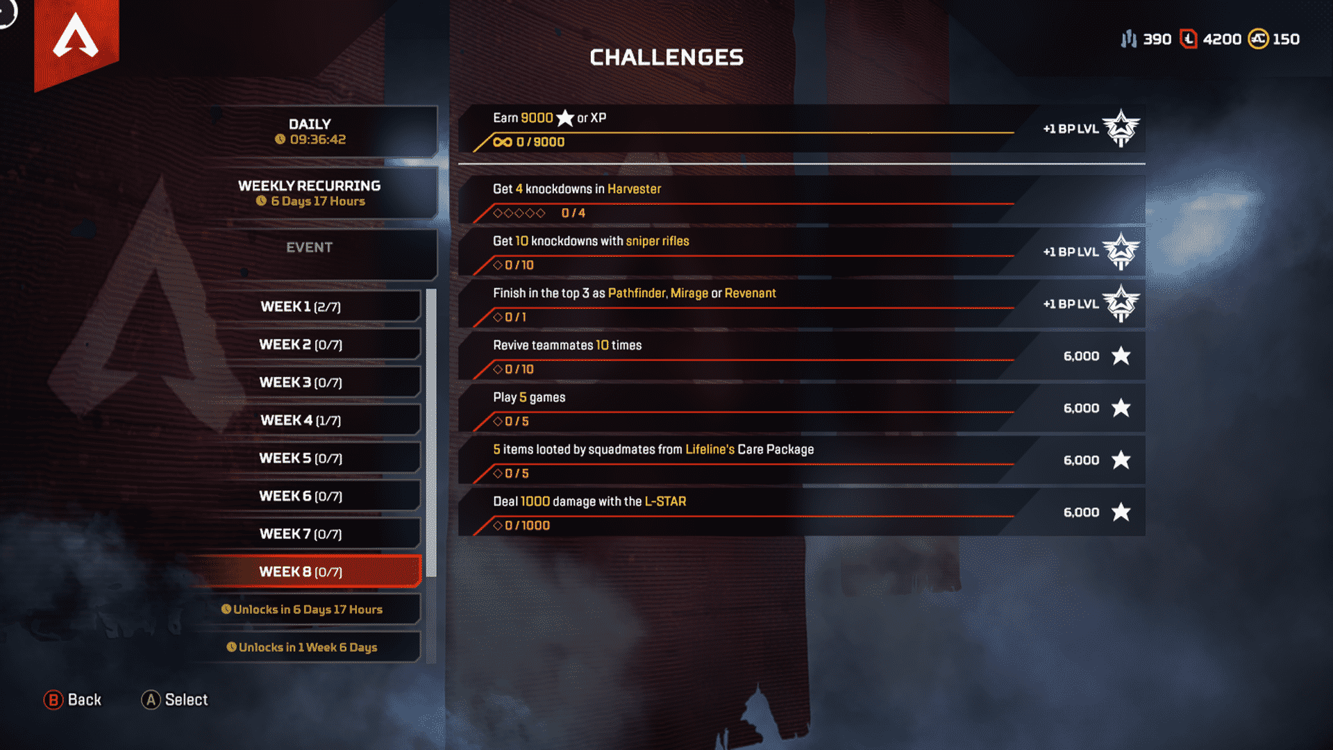 Week 8 Season 4 Challenges Assimilation March 24