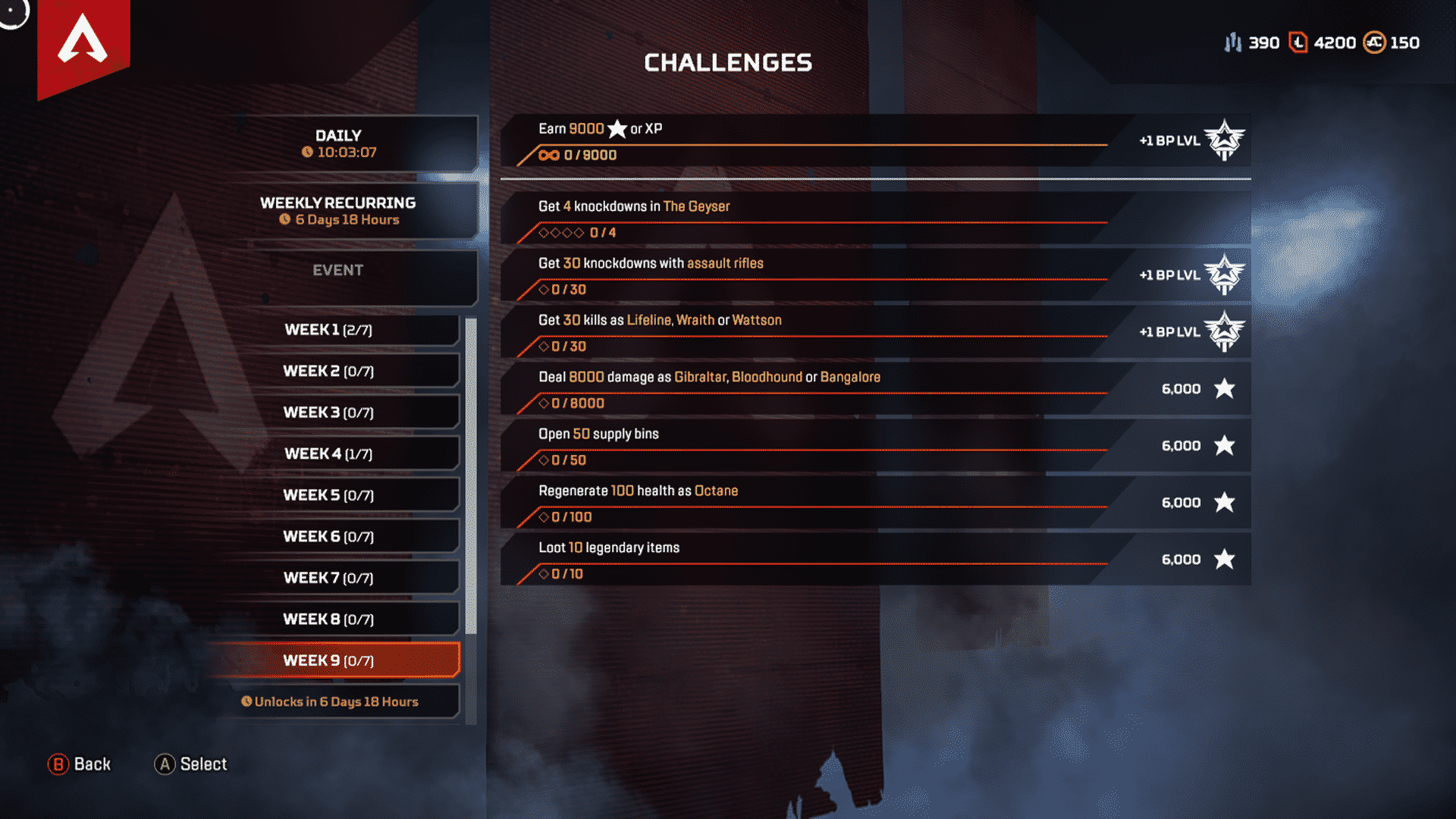 Week 9 Season 4 Challenges Assimilation March 31