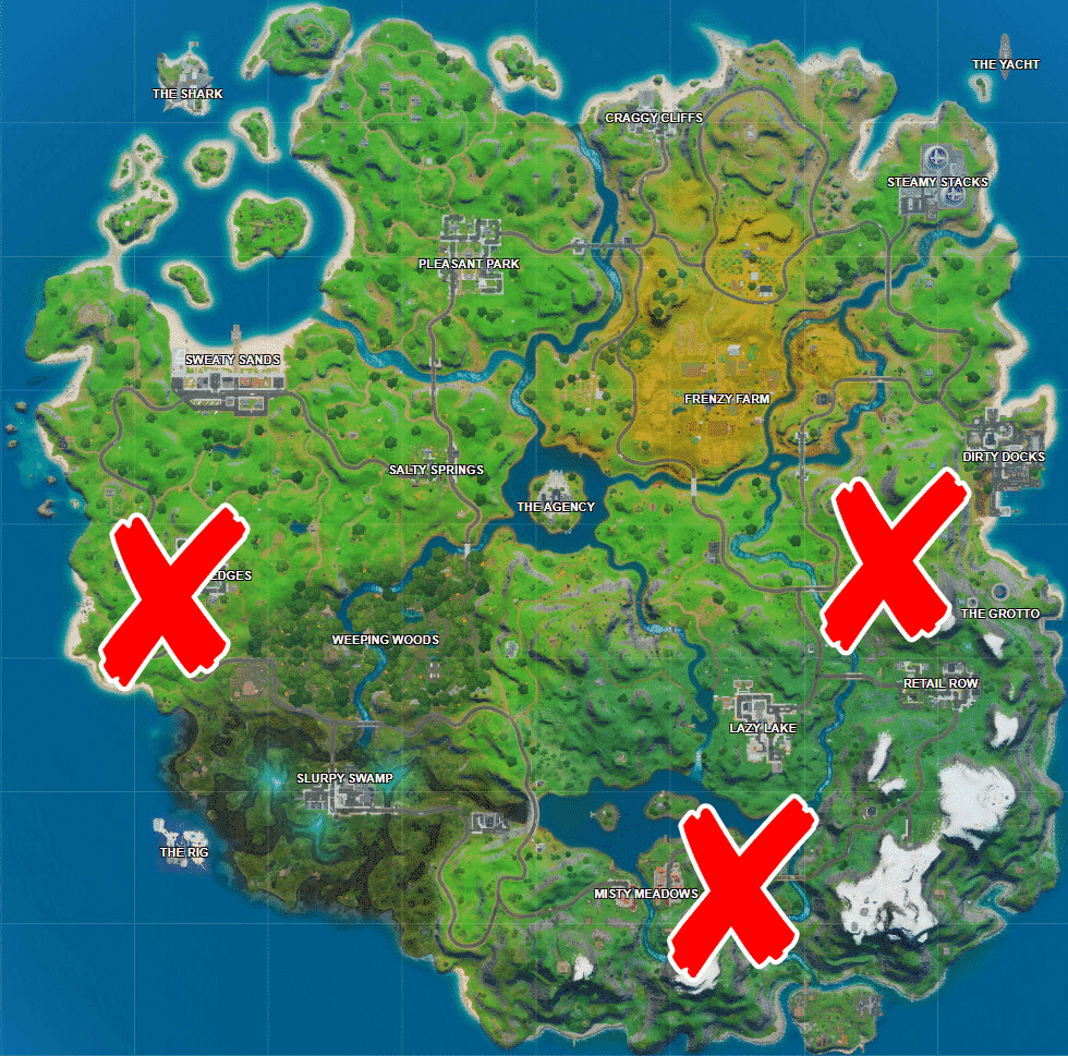 Where is Lake Canoe, Camp Cod, and Rainbow Rentals in Fortnite
