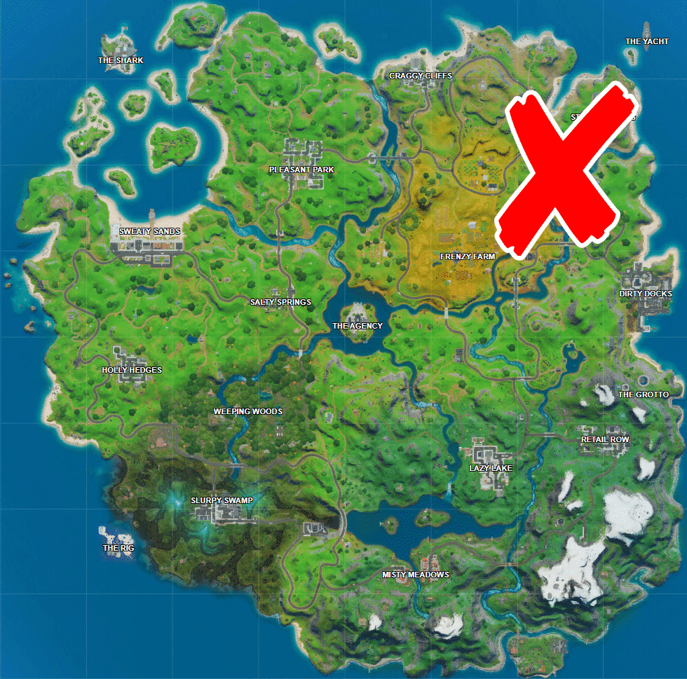 Where is Steamy Stacks, Zipline, and Secret Passage in Fortnite