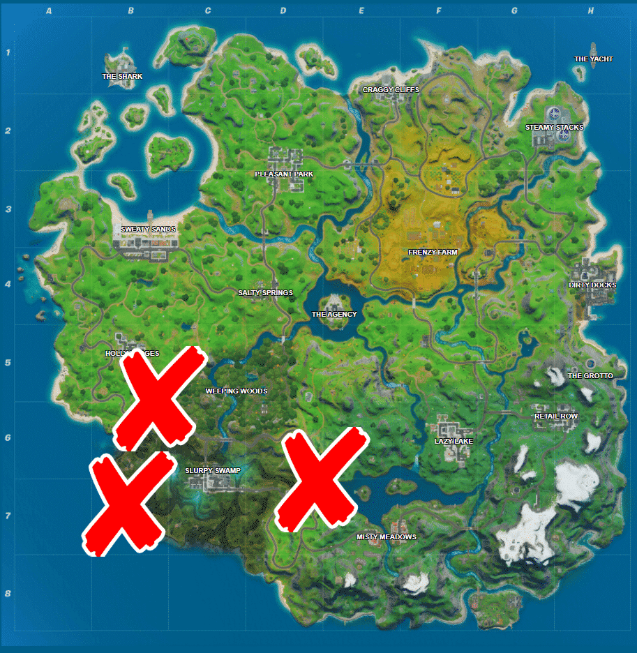 Where is the Rig, Hydro 16 and Logjam Woodworks in Fortnite