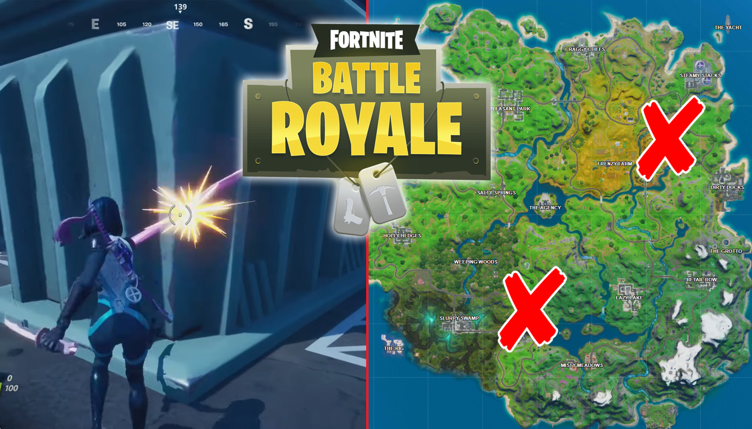 All Fortnite Metal At Hydro 16 Or Compact Cars Locations Game Life