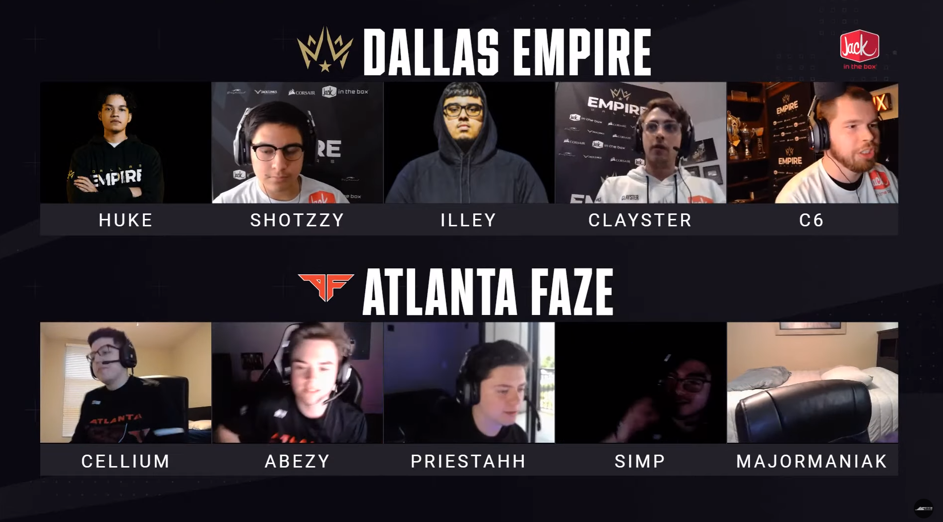 Call of Duty League Players Staying at Home Dallas Finals Coronavirus