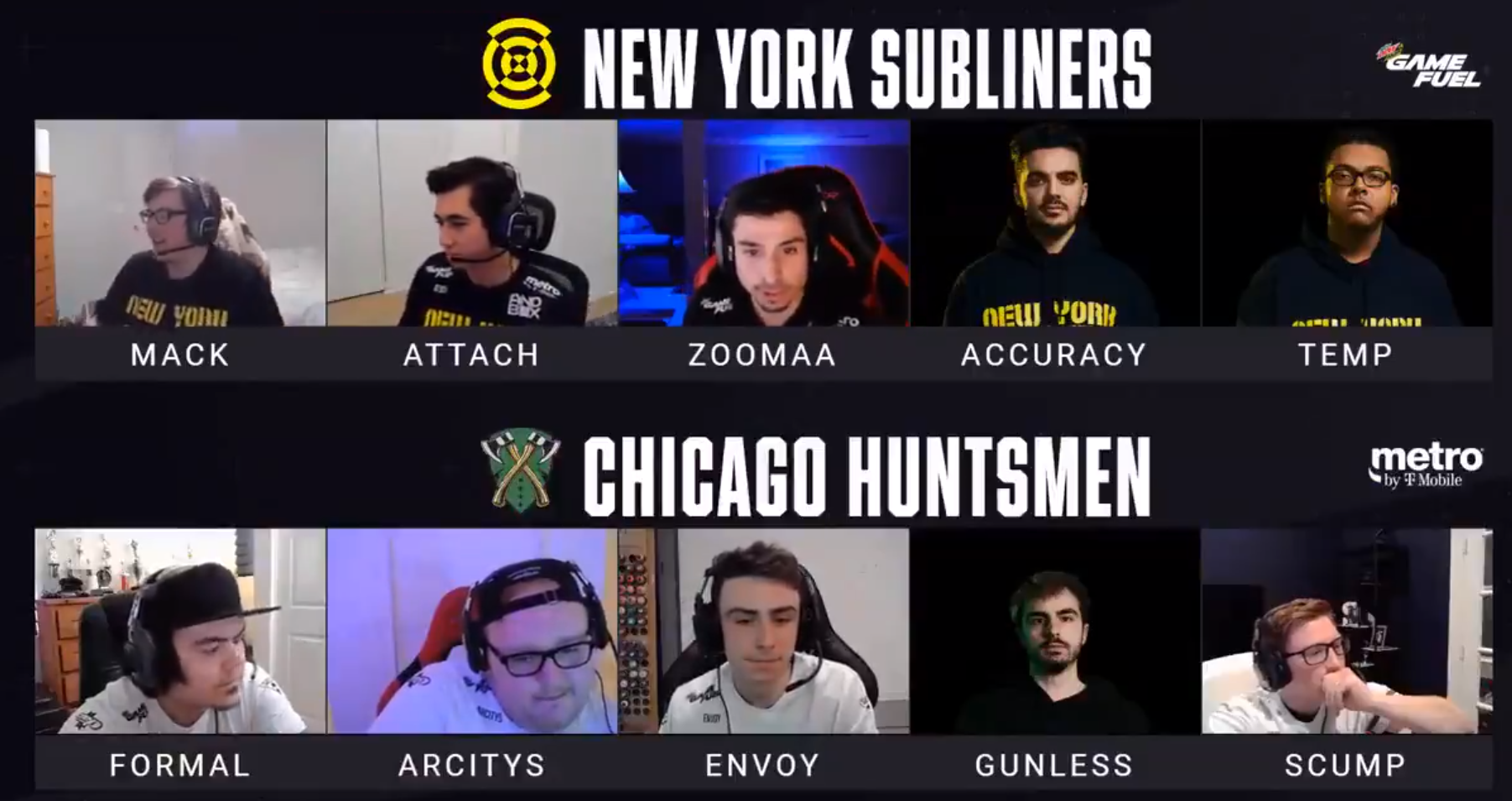 Chicago Huntsmen Beaten by New York Subliners 3-2