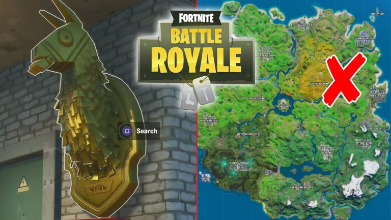 Fortnite Midas Golden Llama at Junk Yard, Gas Station and RV Campsite Location