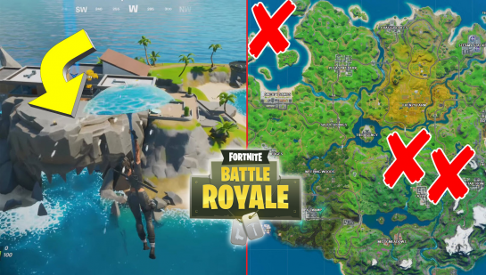 Fortnite Shark, Rapid's Rest and Gorgeous Gorge Locations