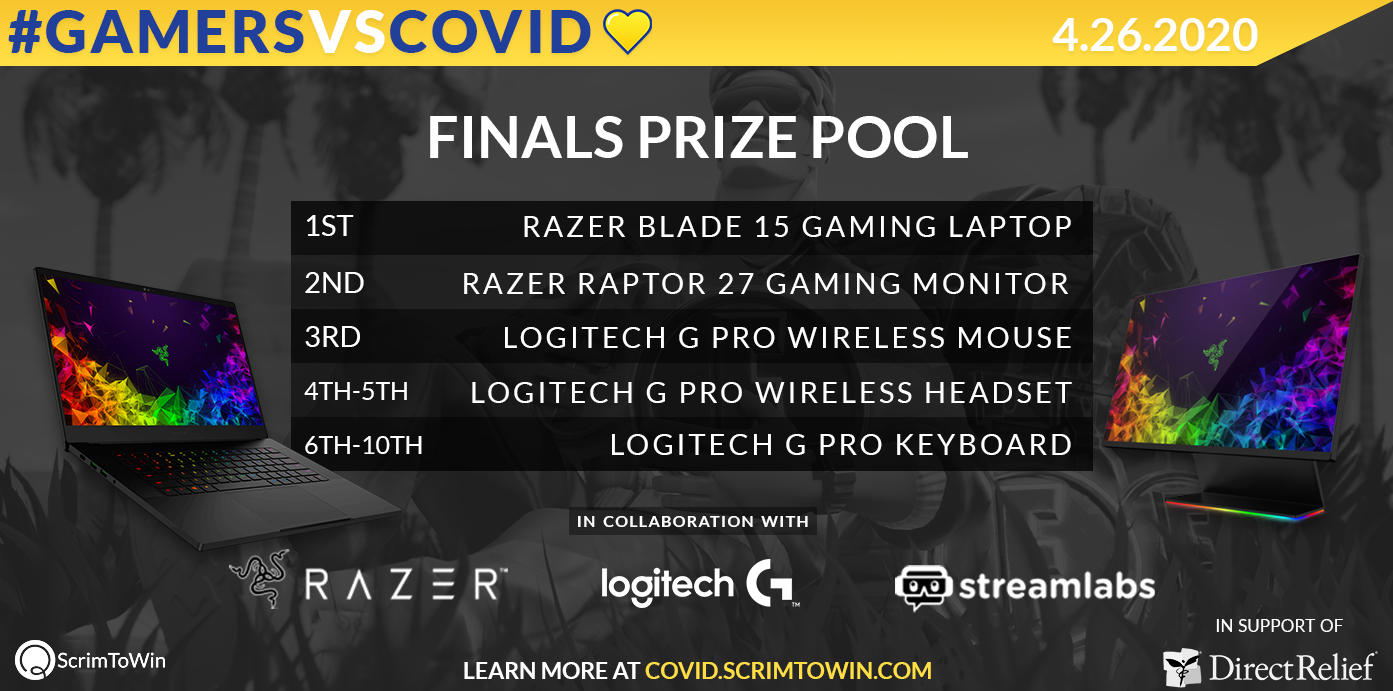Gamers VS COVID Finals Prize Pool