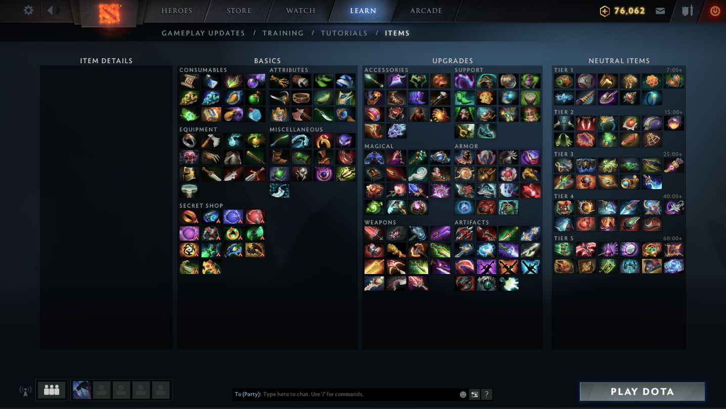 Itemization and Strategies in Dota 2