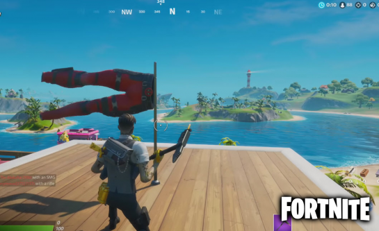 Salute Deadpool Fortnite Pants in Challenge