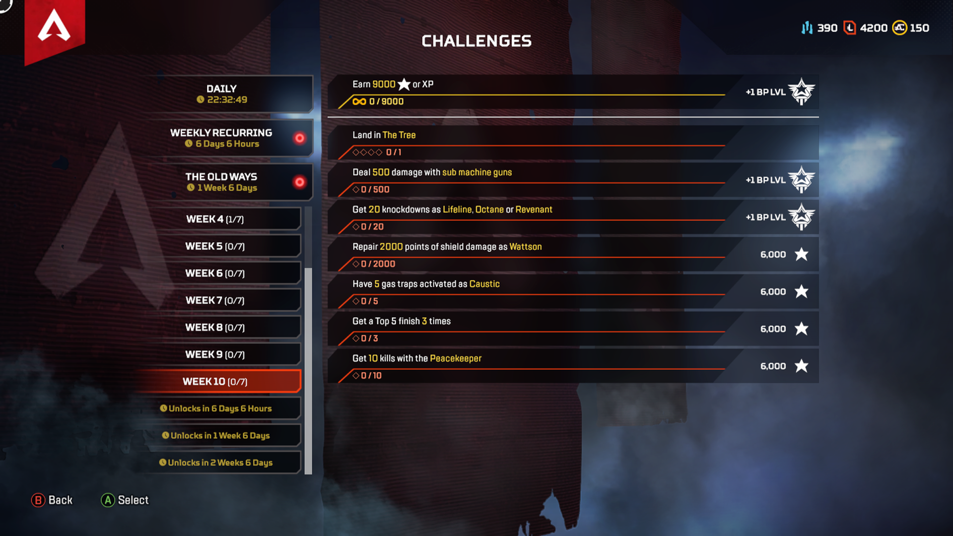 Week 10 Season 4 Challenges Assimilation April 7