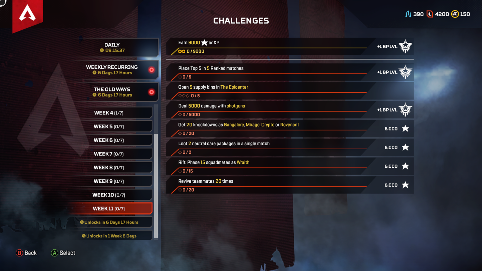 Week 11 Season 4 Challenges Assimilation April 15
