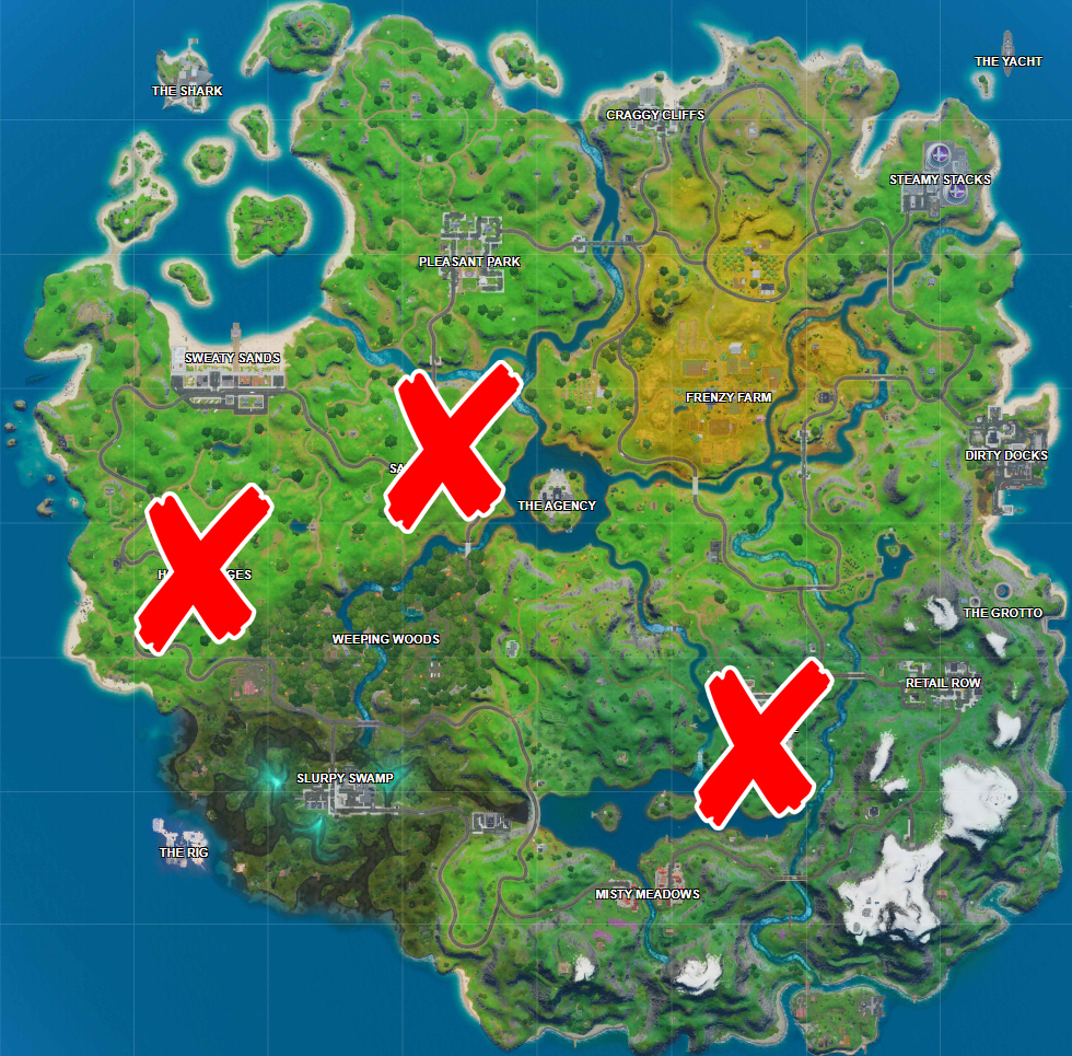 Where are the Shadow Dropboxes Locations in Fortnite