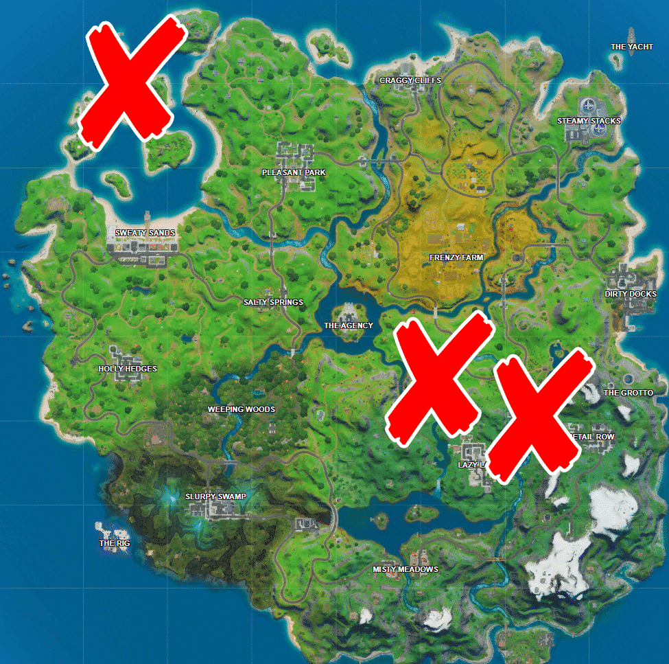 Where is Shark, Rapid's Rest and Gorgeous Gorge in Fortnite