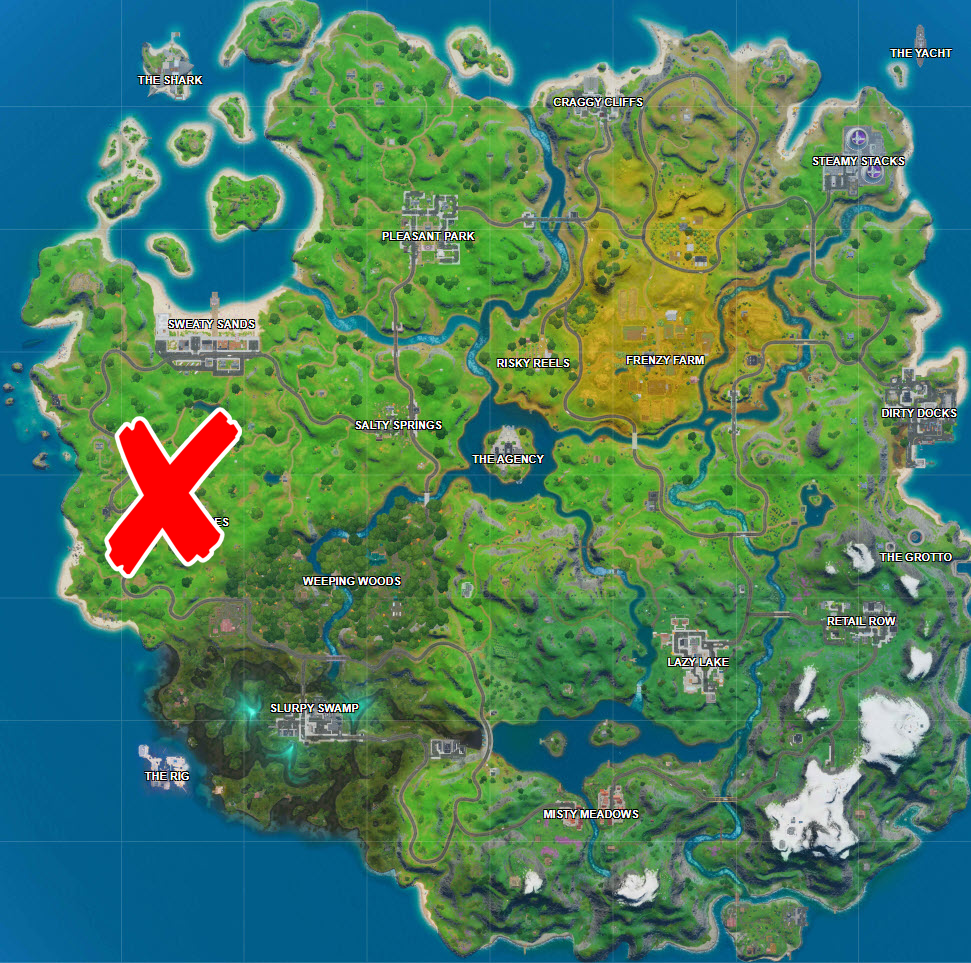 where are all the teddy bears in Fortnite