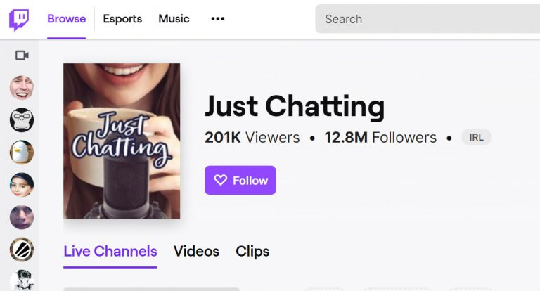 Why Twitch's 'Just Chatting' Directory Is Slowly Overtaking Gaming Channels